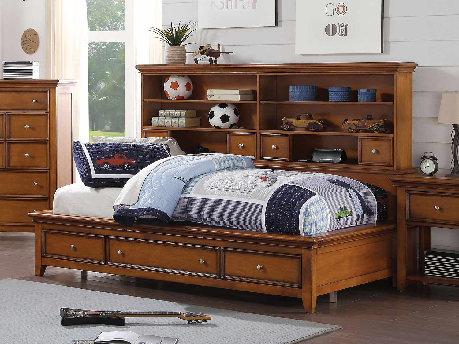 Acme Lacey Daybed with Storage - Cherry Oak