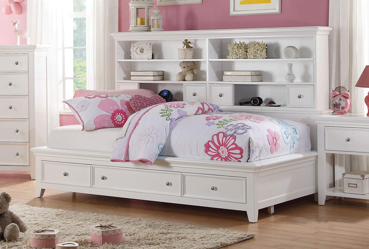 Acme Lacey Daybed with Storage - White