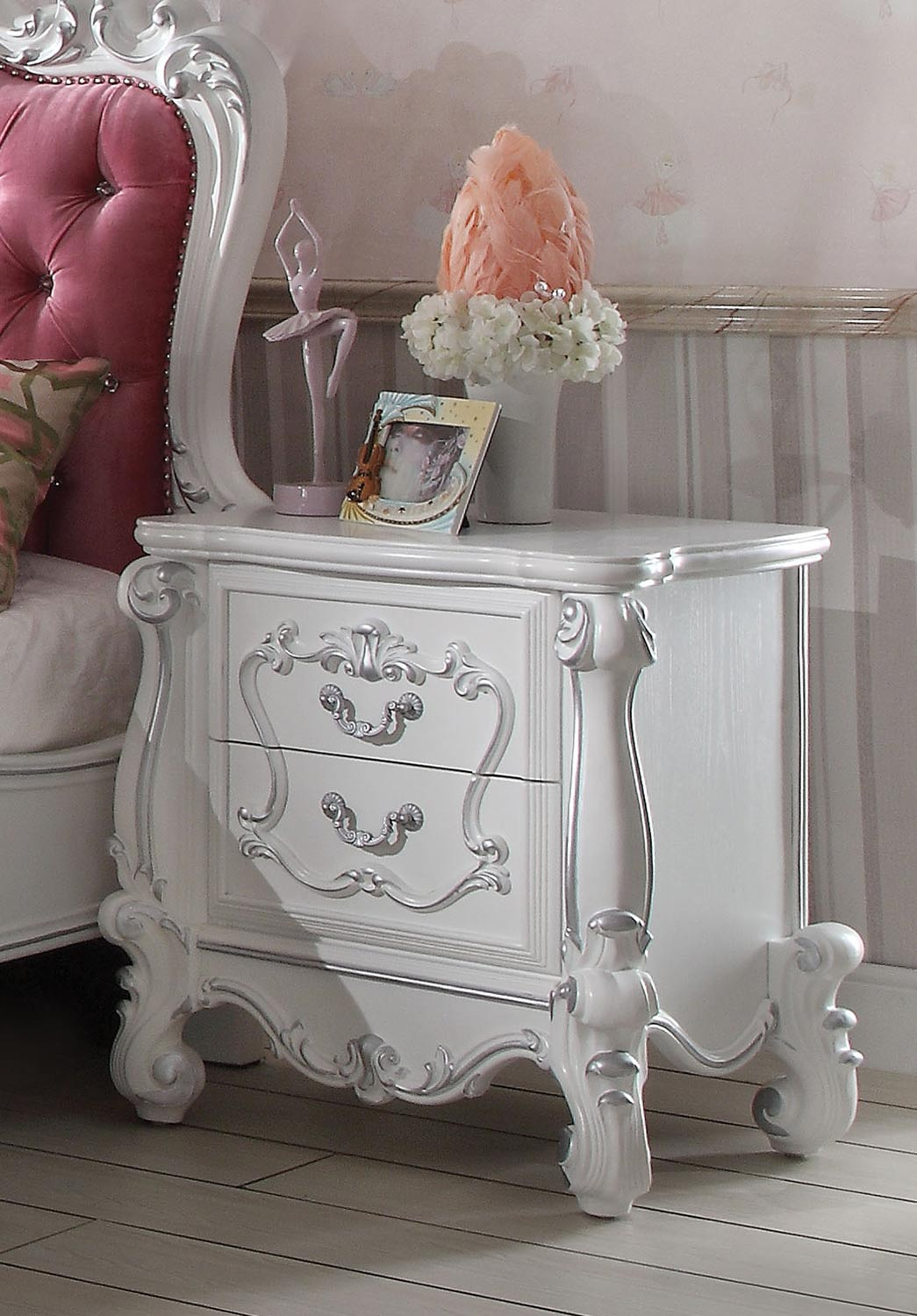 Acme Versailles Nightstand - Antique White