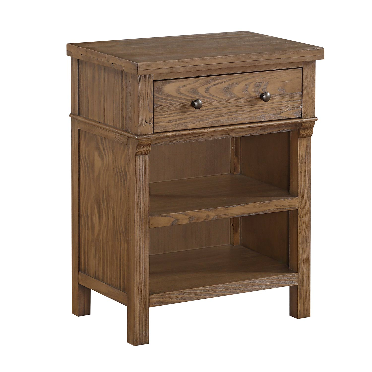 Acme Inverness Nightstand - Reclaimed Oak
