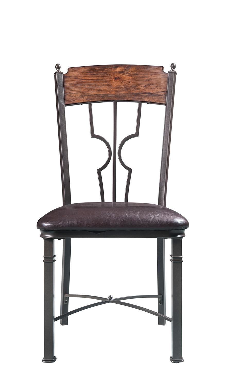 Acme LynLee Side Chair - Espresso Vinyl/Dark Bronze