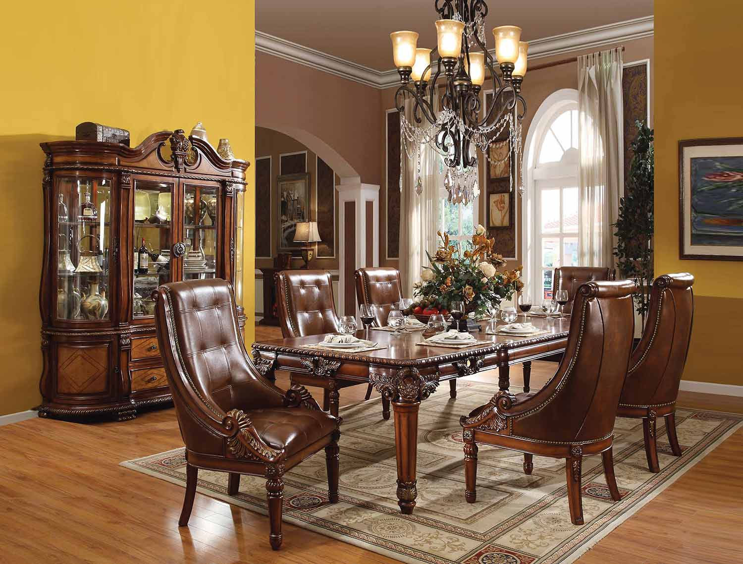 Acme Winfred Dining Set - Cherry