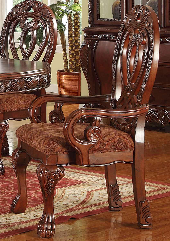 Acme Quinlan Arm Chair - Cherry