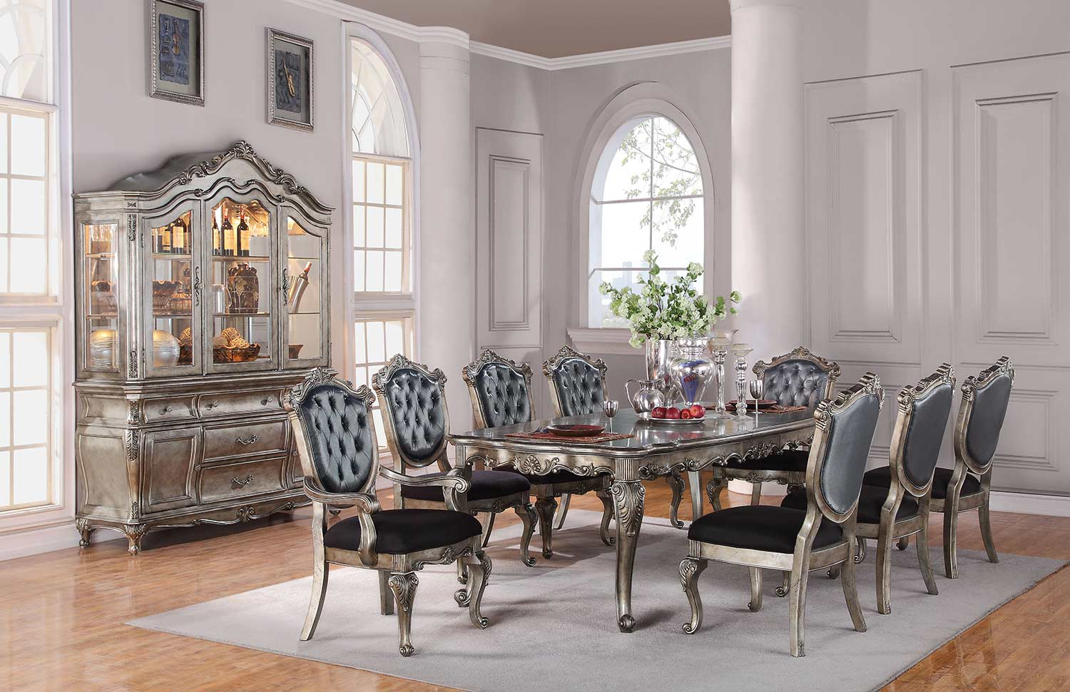 Acme Chantelle Dining Set - Antique Platinum