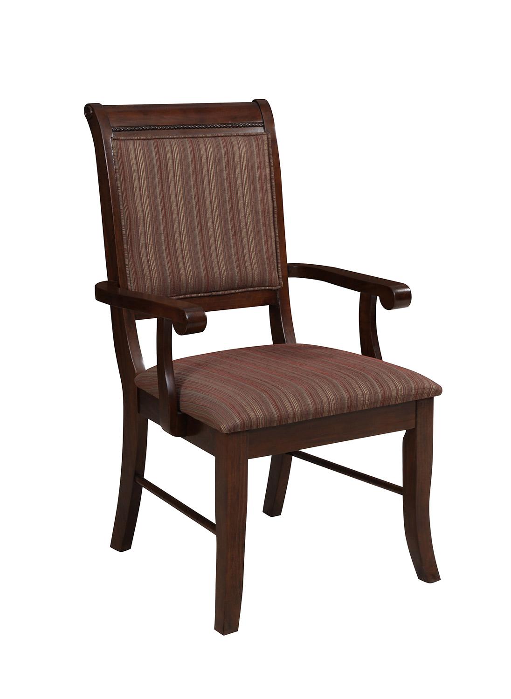 Acme Mahavira Arm Chair - Fabric/Espresso