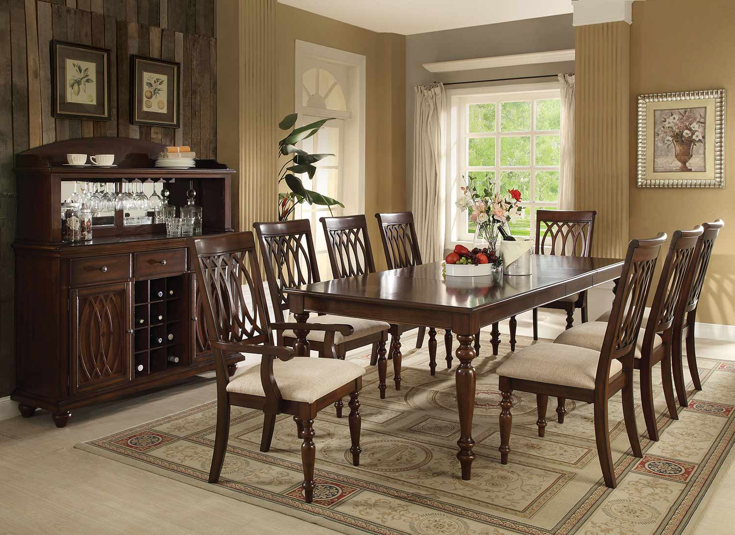 Acme Farrel Dining Set - Walnut