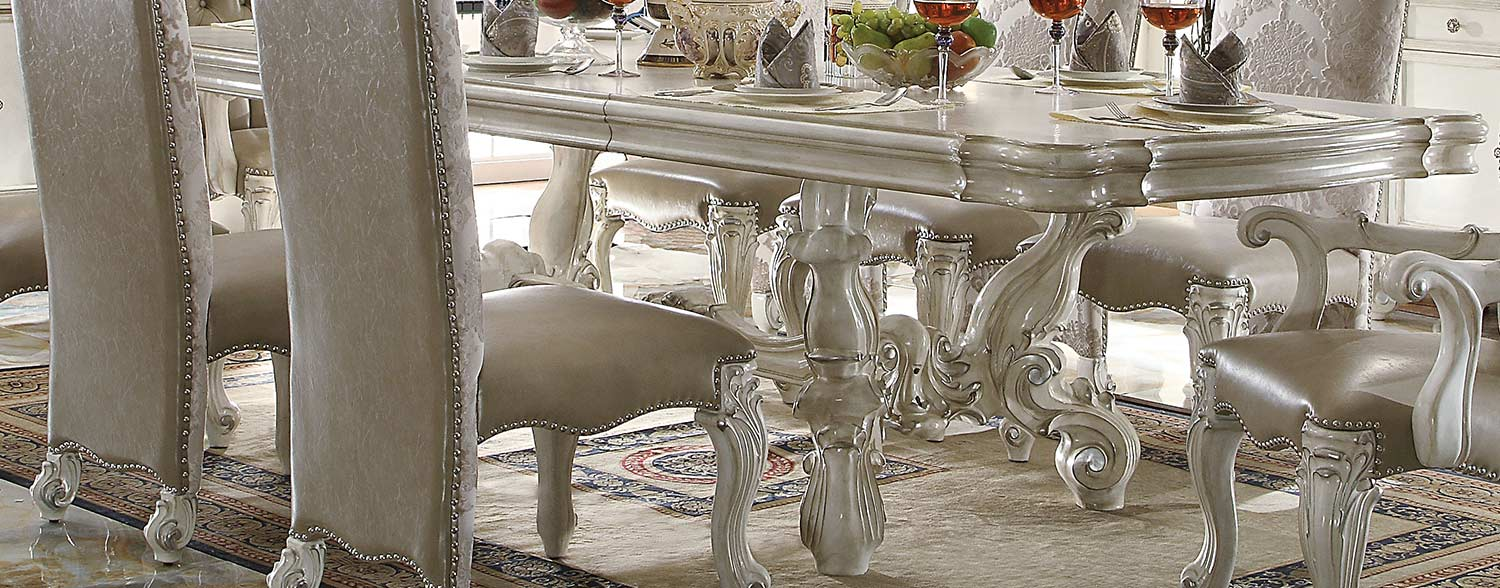 Acme Versailles Dining Table (120L) - Bone White