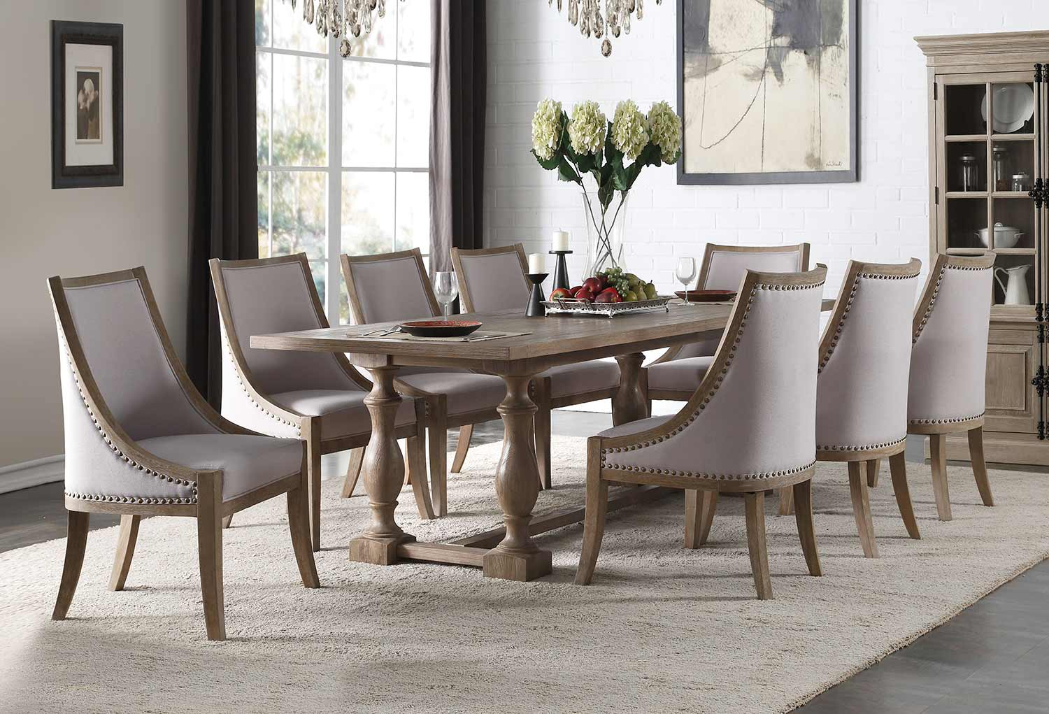 Acme Eleonore Dining Set - Weathered Oak