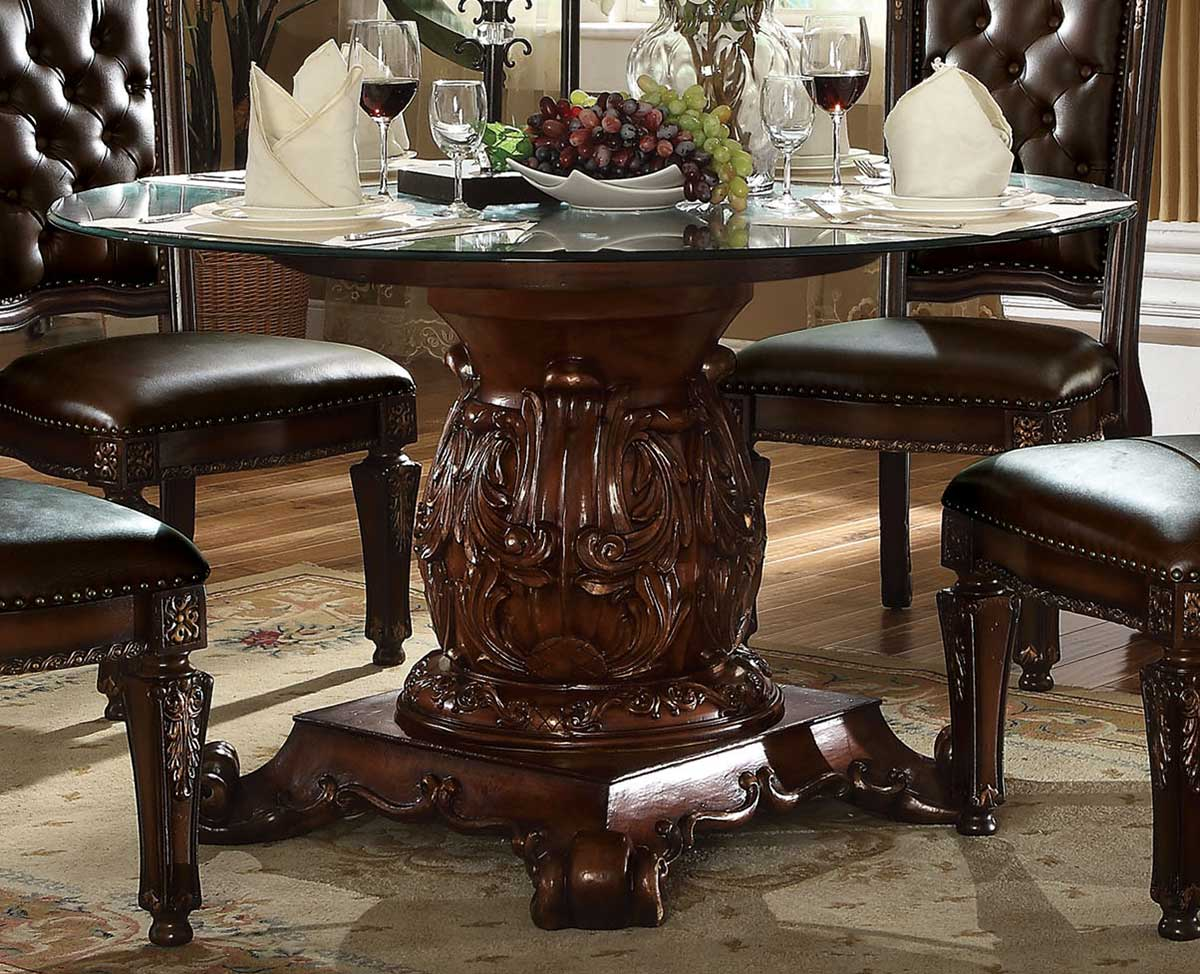 Acme Vendome Dining Table With Pedestal, Vendome Dining Room Set