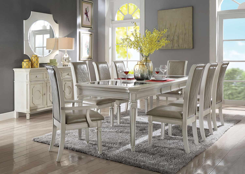 Acme Florissa Dining Set - Antique White