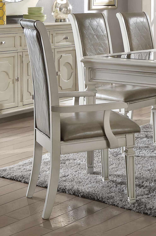 Acme Florissa Arm Chair - Antique White