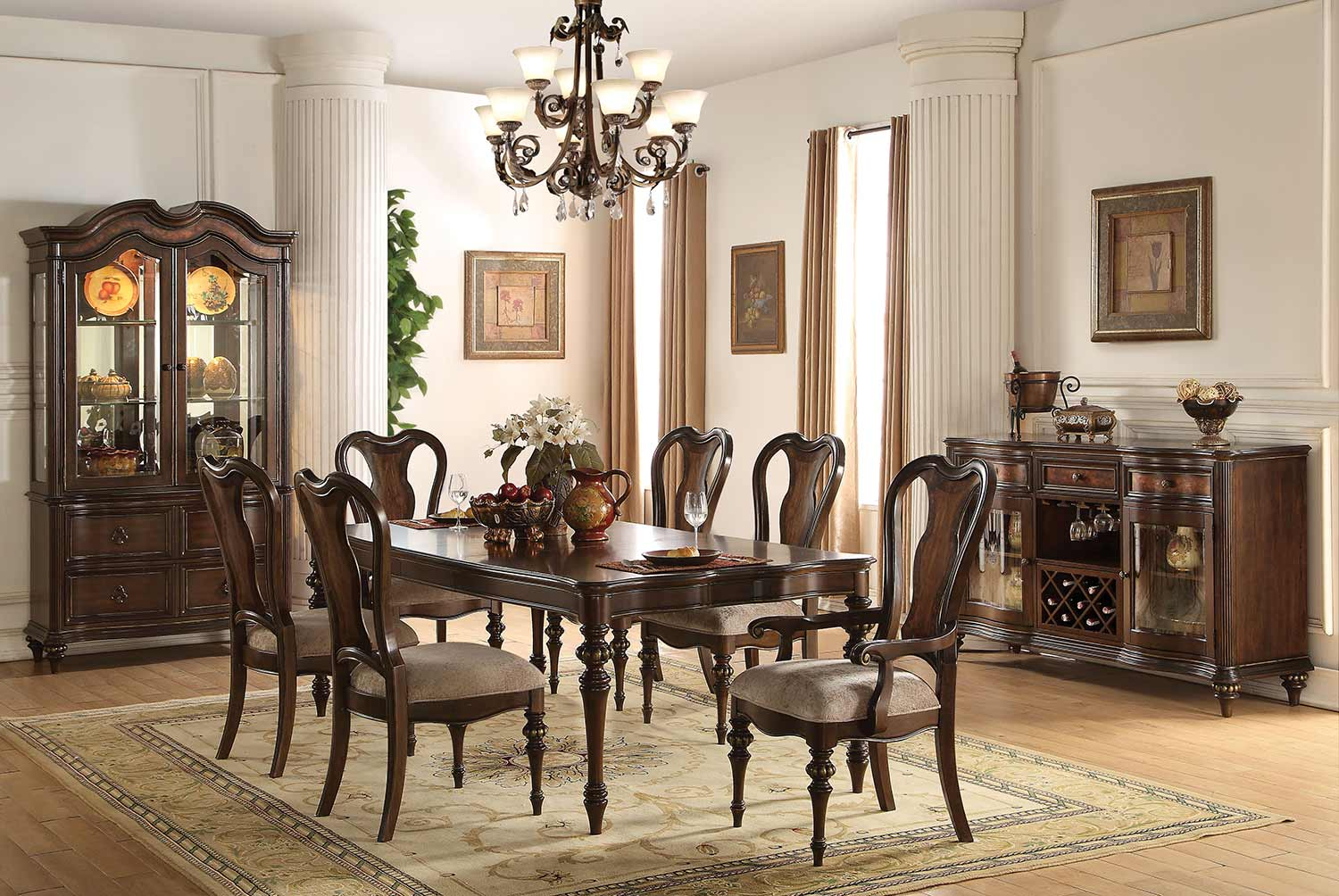 Acme Azis Dining Set - Dark Walnut