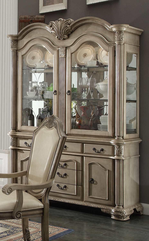 Acme Chateau de Ville Hutch and Buffet - Antique White