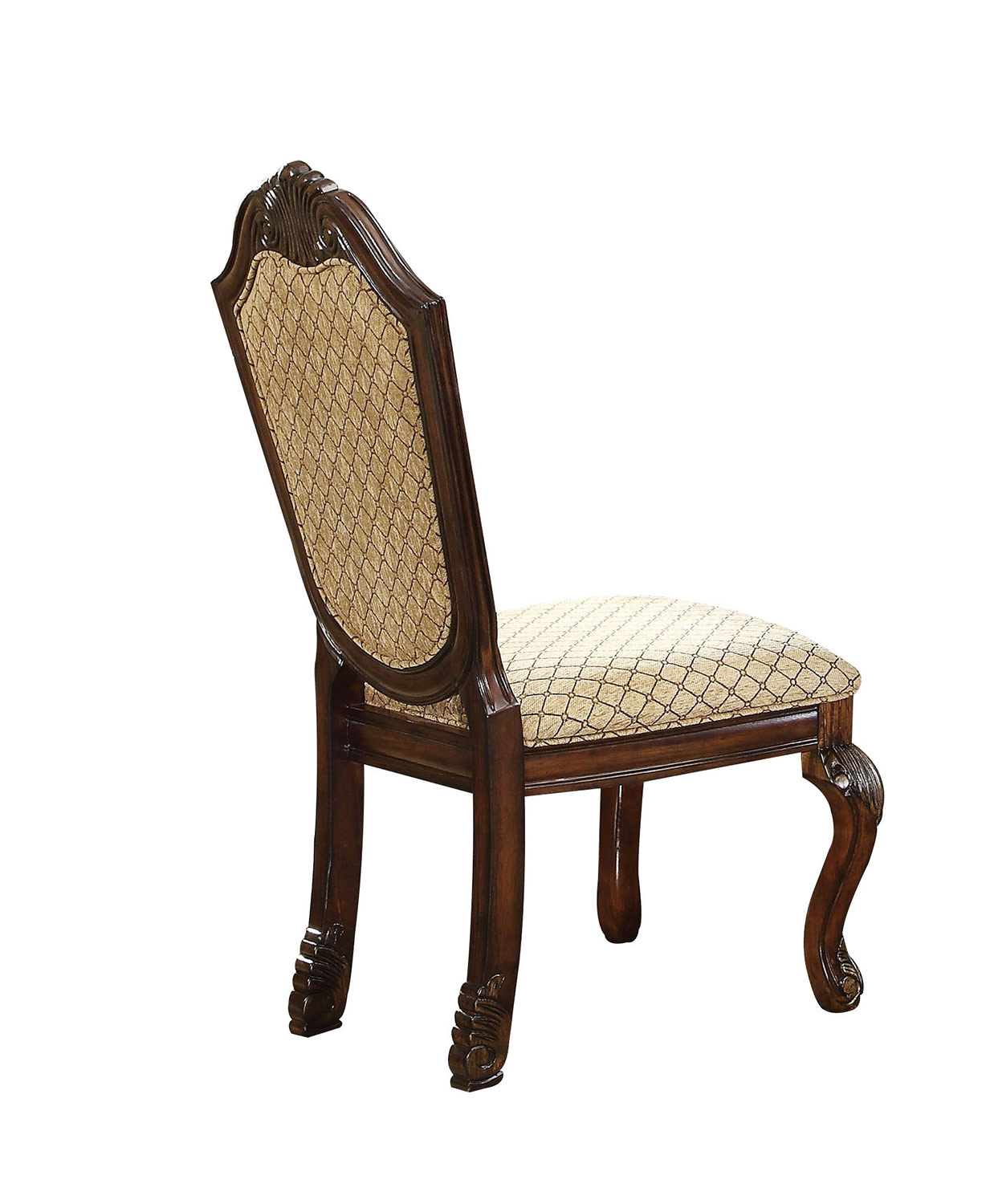 Acme Chateau De Ville Side Chair - Fabric/Espresso