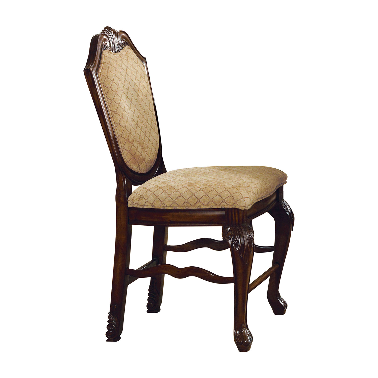 Acme Chateau De Ville Counter Height Chair - Fabric/Espresso