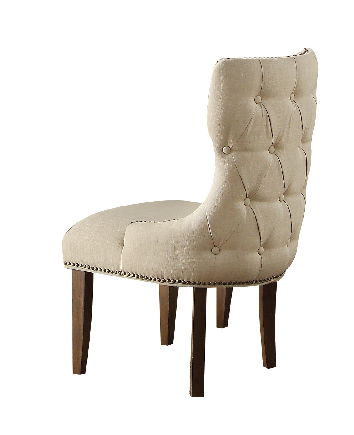 Acme Inverness (Parker) Chair - Fabric/Salvage Oak