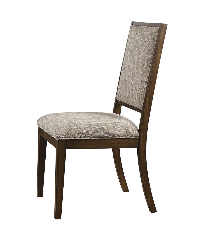 Acme Aurodoti Side Chair - Fabric/Oak