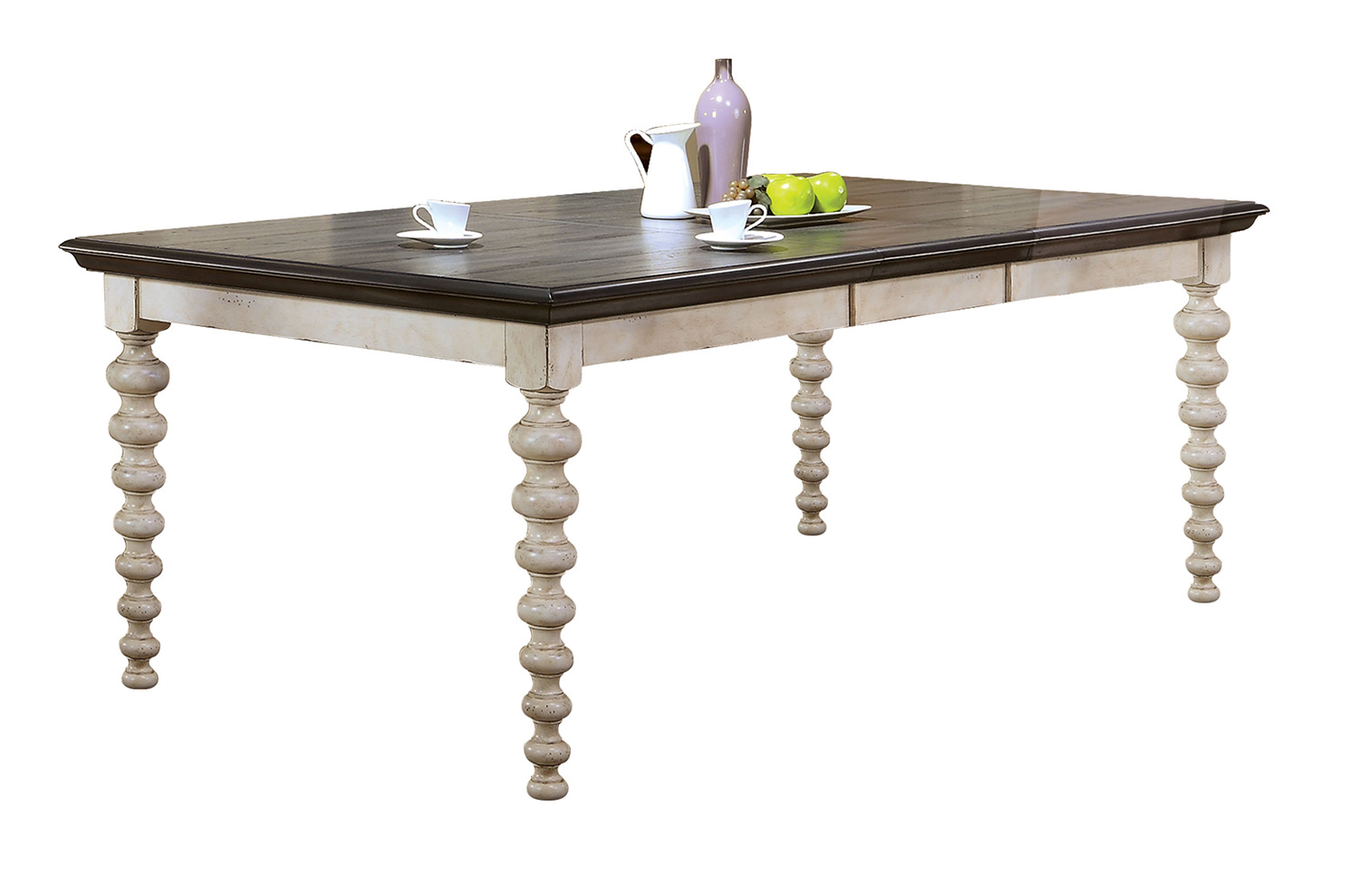 Acme Coyana Dining Table - Antique White/Gray
