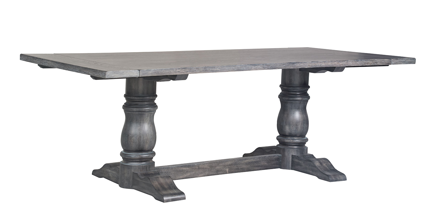 Acme Leventis Dining Table (Trestle) - Weathered Gray