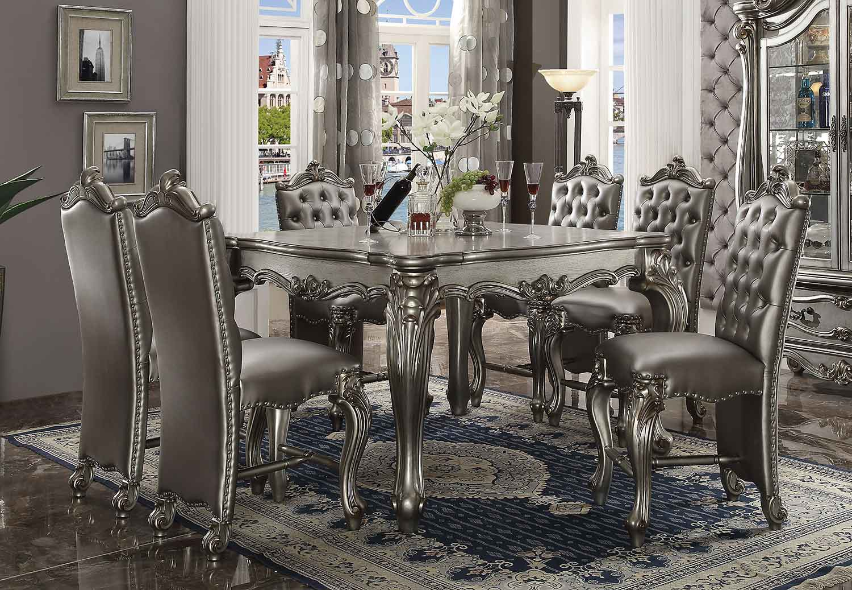 Acme Versailles Counter Height Dining Set - Antique Platinum