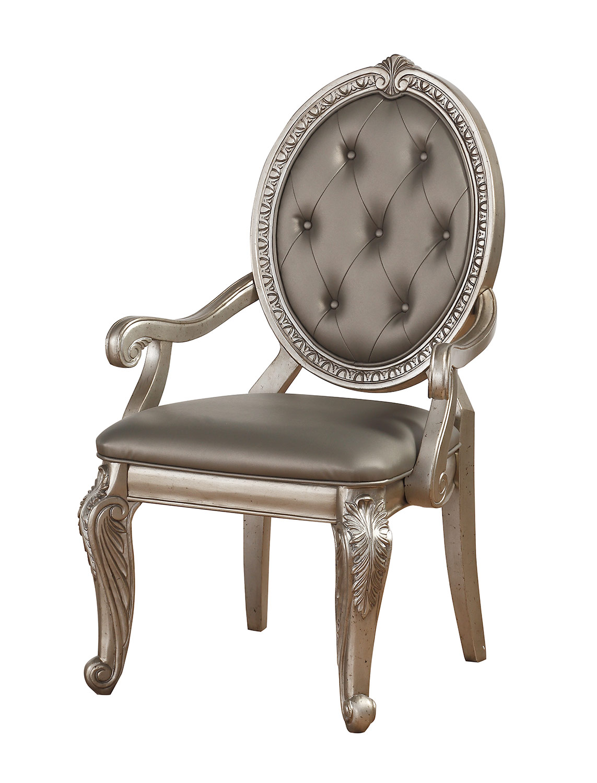 Acme Northville Arm Chair - Antique Champagne
