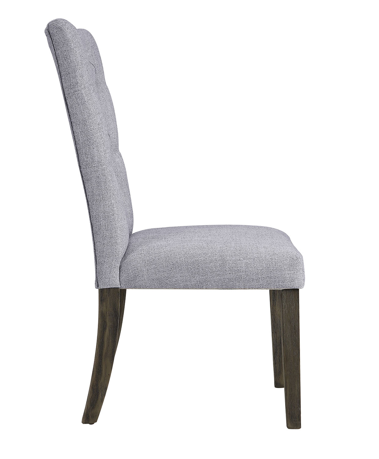 Acme Merel Side Chair - Gray Fabric/Gray Oak