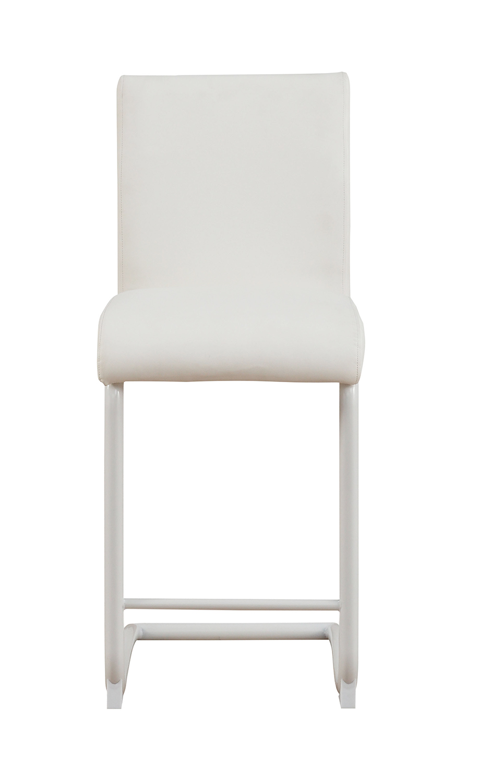 Acme Gordie C Metal Shape Counter Height Chair - White Vinyl