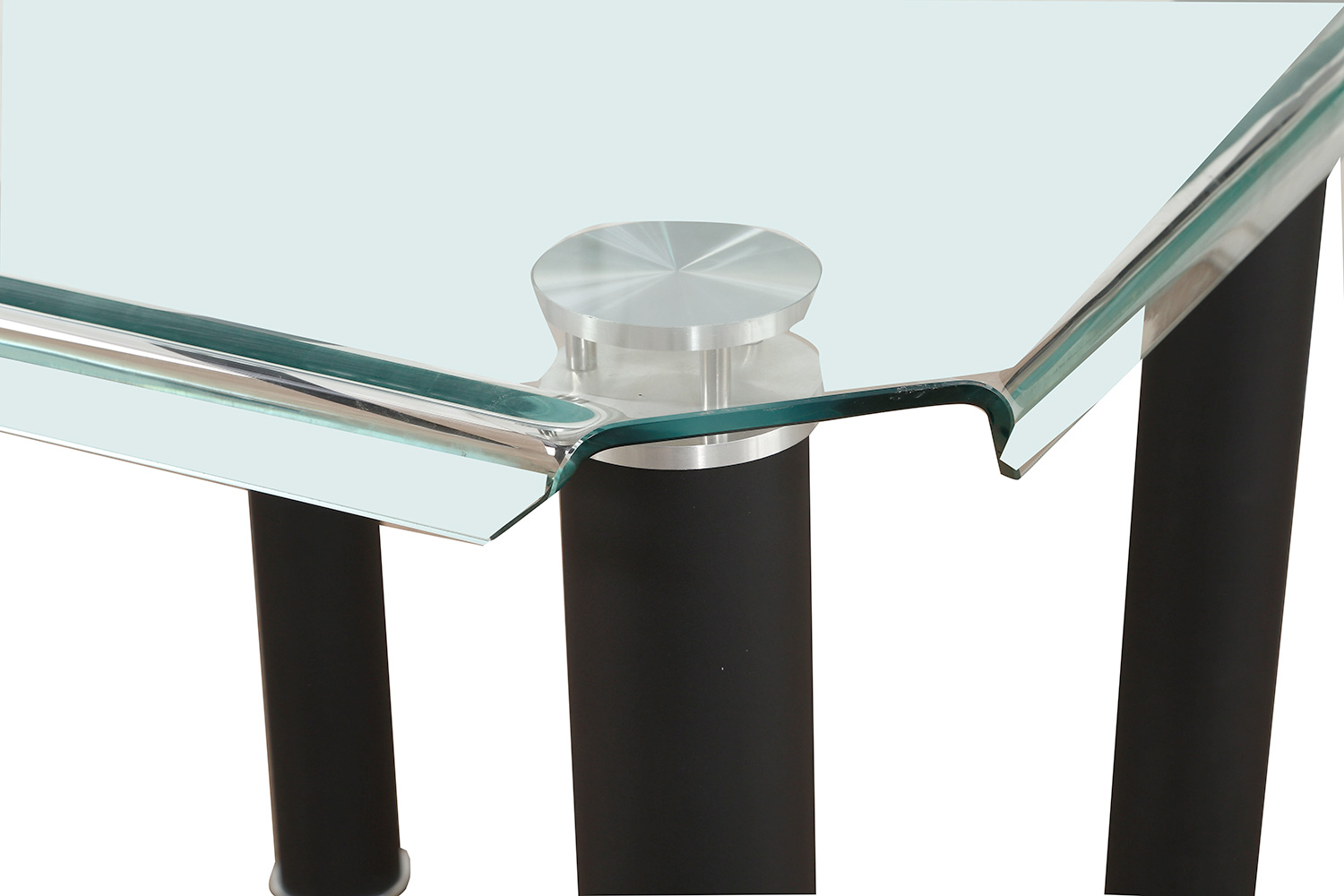 Acme Gordie Counter Height Table - Black/Clear Glass