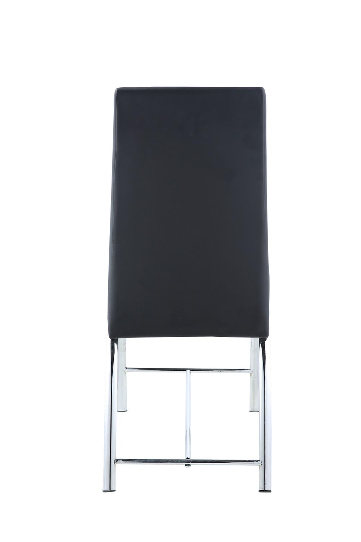 Acme Gordie Curved Metal Shape Counter Height Chair - Black Vinyl/Chrome