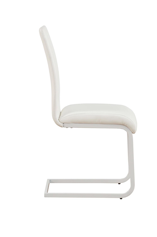Acme Gordie C Metal Shape Side Chair - White Vinyl