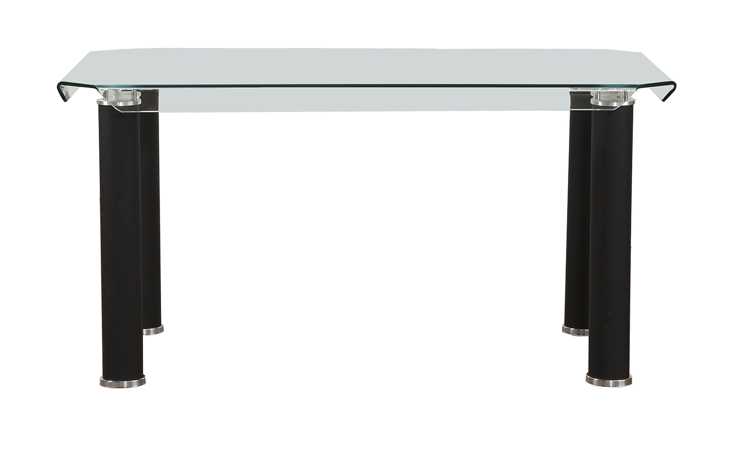 Acme Gordie Dining Table - Black/Clear Glass