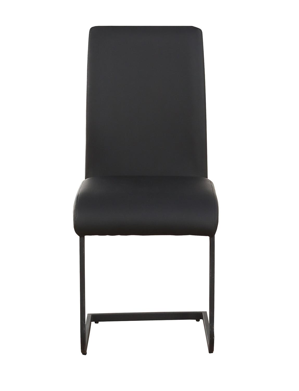 Acme Gordie C Metal Shape Side Chair - Black Vinyl