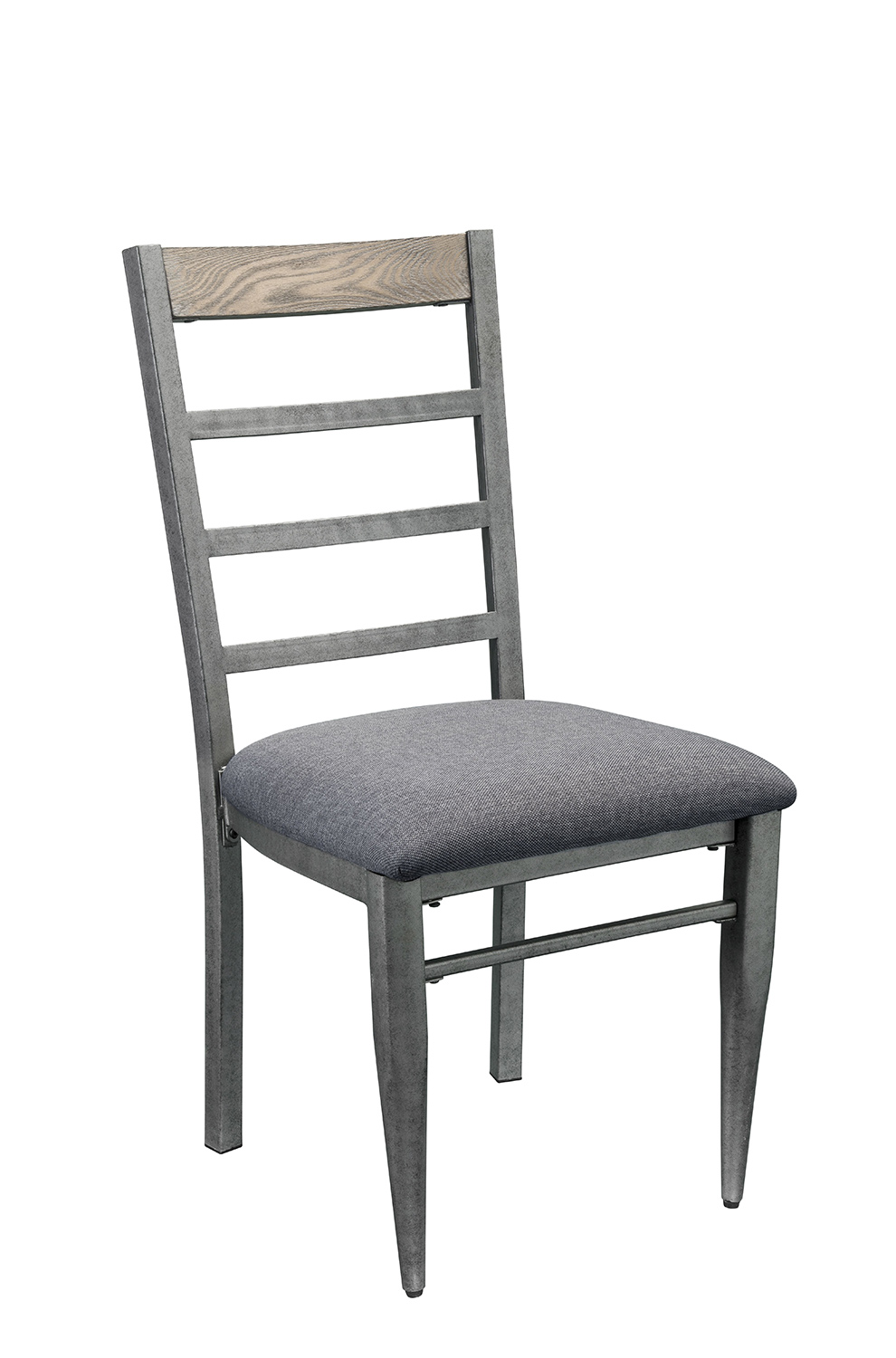 Acme Ornat Side Chair - Gray Fabric/Antique Gray