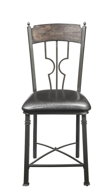 Acme LynLee Counter Height Chair - Espresso Vinyl/Dark Bronze