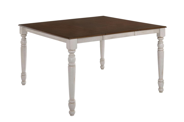 Acme Dylan Counter Height Table - Buttermilk/Oak
