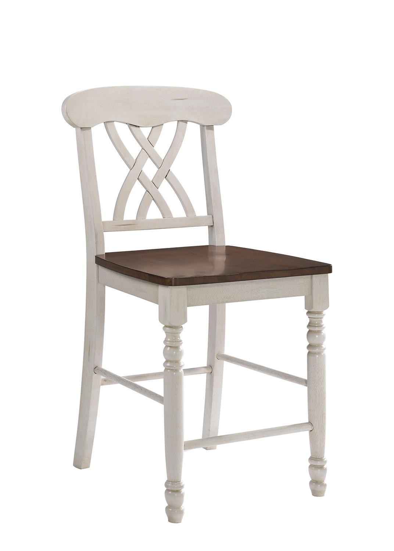 Acme Dylan Counter Height Chair - Buttermilk/Oak
