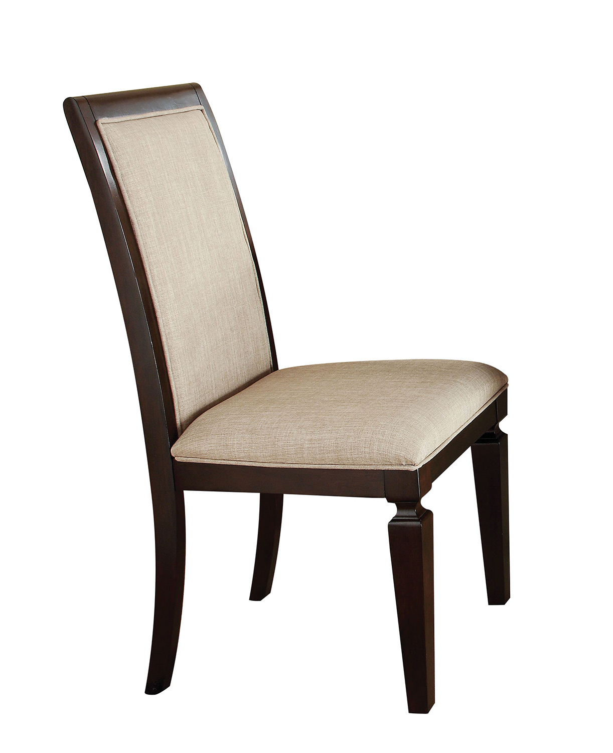 Acme Agatha Side Chair - Linen/Espresso