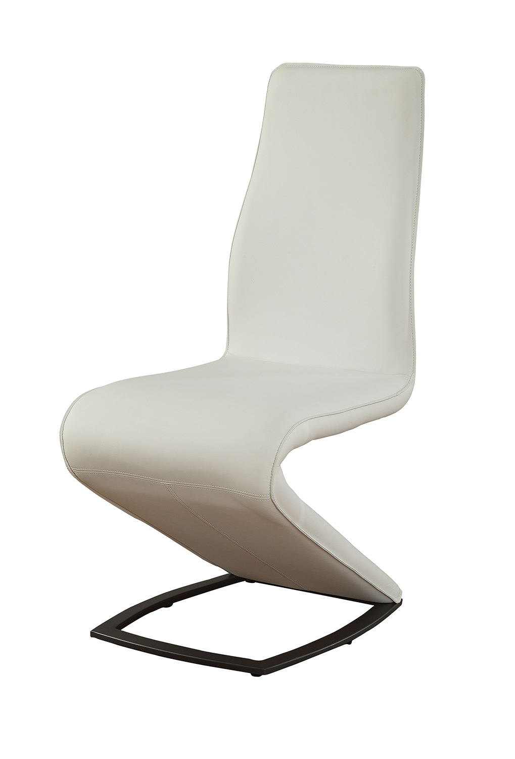 Acme Hassel Side Chair - White Vinyl/Gunmetal