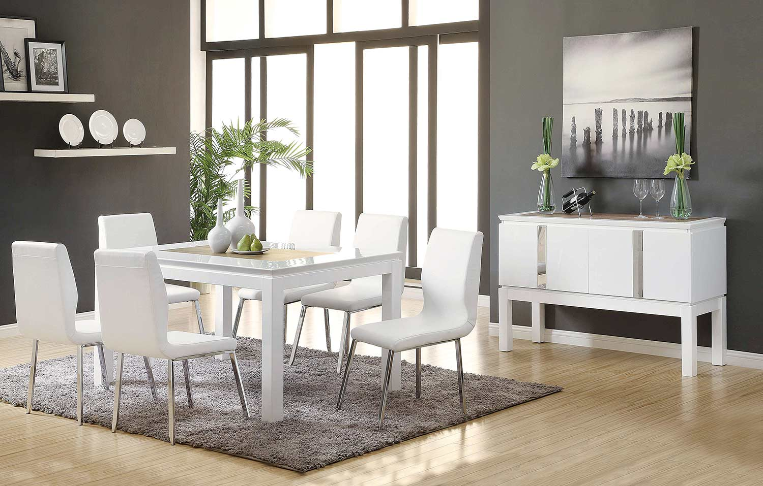 Acme Kilee Dining Set - White