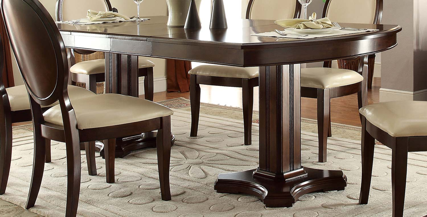 Acme Balint Dining Table with Double Pedestal - Cherry