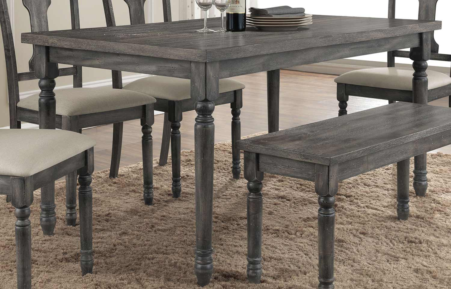Acme Wallace Dining Table - Weathered Gray