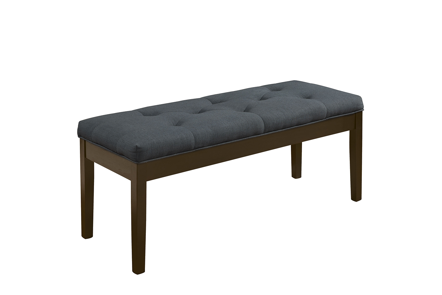 Acme Effie Bench - Gray Linen/Walnut