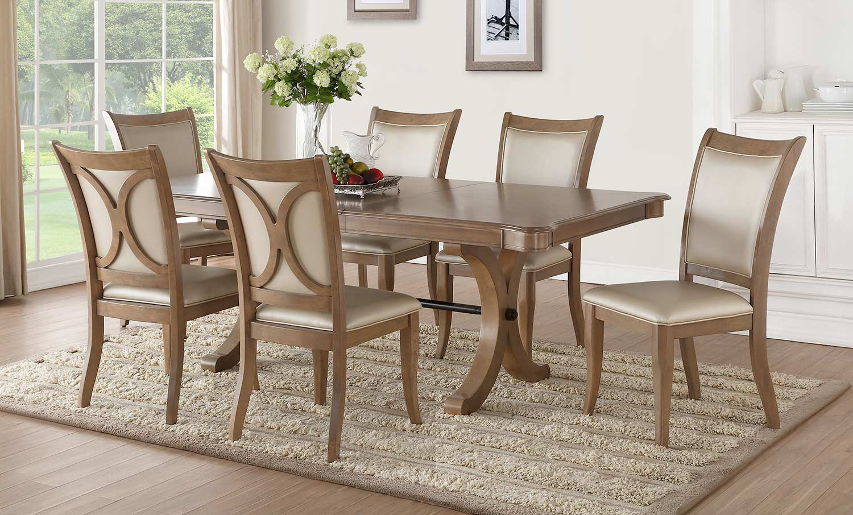 Acme Harald Dining Set - Gray Oak