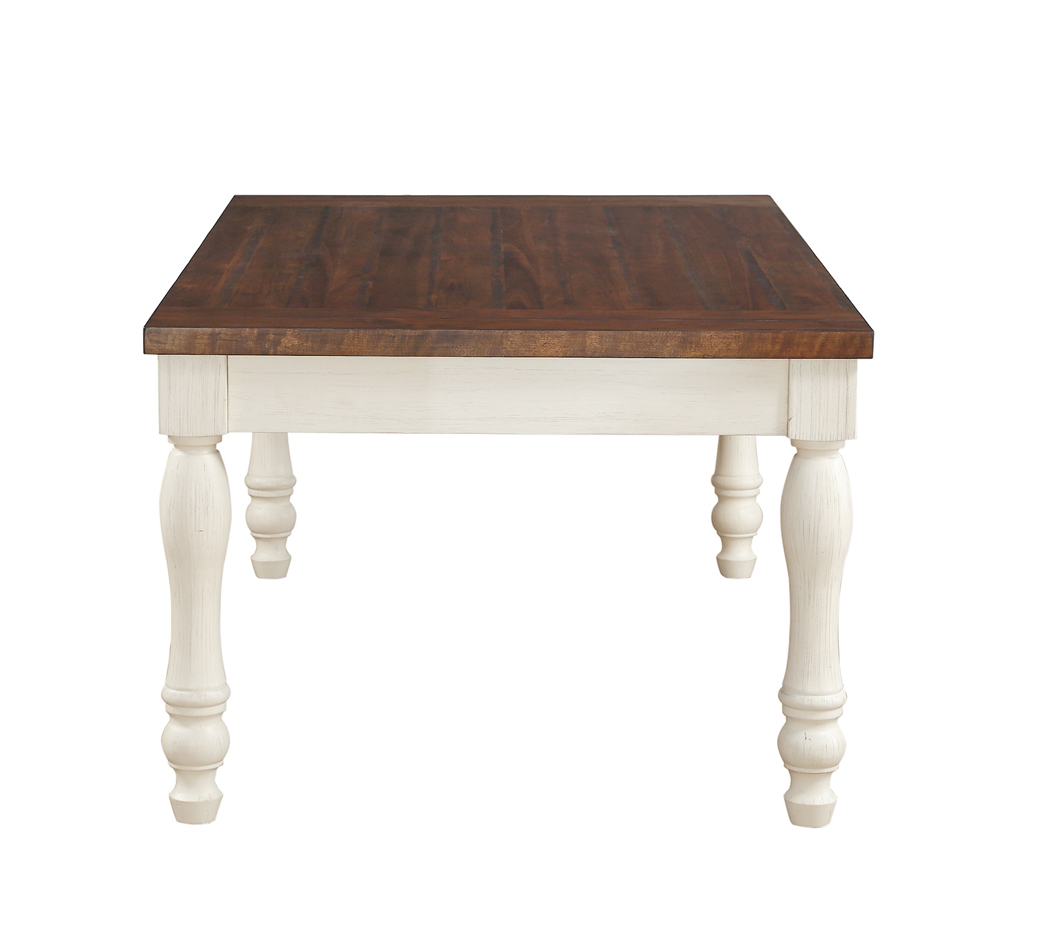 Acme Britta Dining Table - Walnut/White Washed
