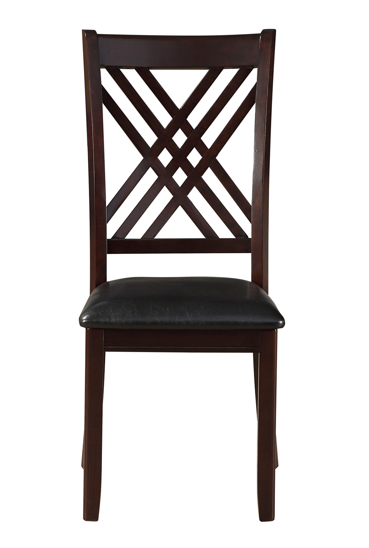 Acme Katrien Side Chair - Black Vinyl/Espresso