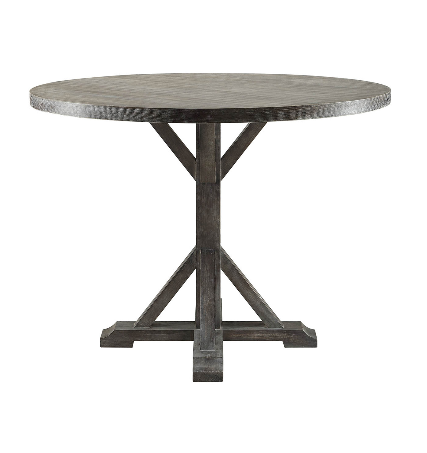 Acme Carmelina Counter Height Table - Weathered Gray Oak