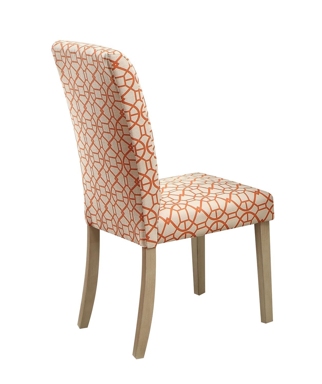 Acme Glassden Side Chair - Orange/Light Oak