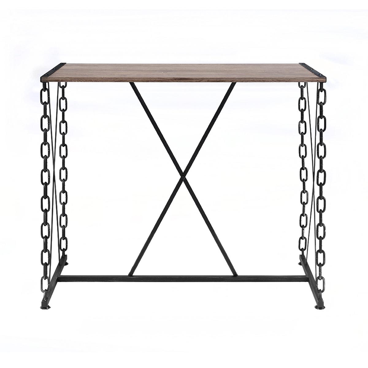 Acme Jodie Bar Table - Rustic Oak/Antique Black