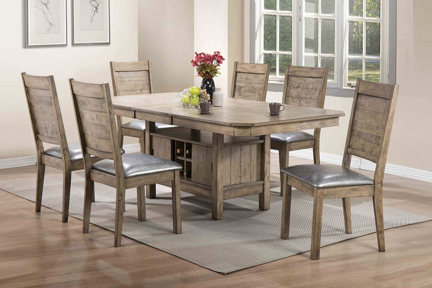 Acme Ramona Dining Set - Rustic Oak