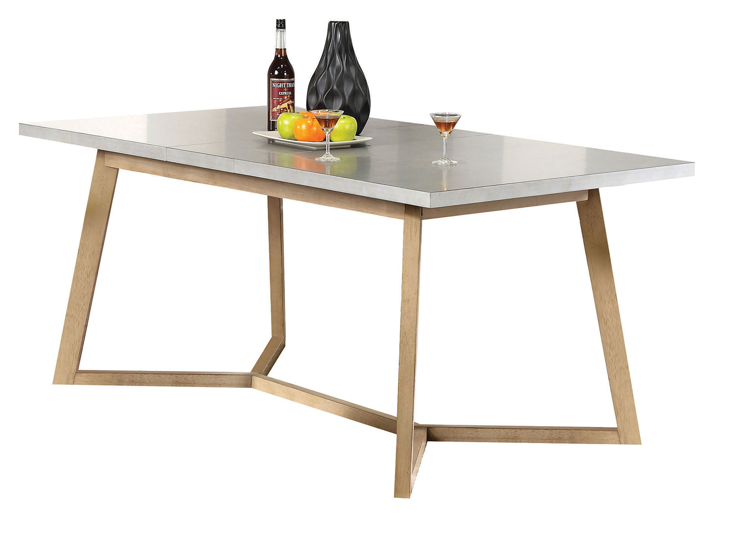Acme Rosetta Dining Table - Faux Marble/White Washed